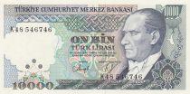 Turkey 10000 Lirasi Pdt Ataturk - Mimar Sinan - 1982