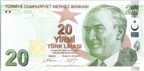 Turquie 20 Yeni Turk Lirasi - Pdt Ataturk - Mimar Kemaleddin - 2009 (2017) - Neuf