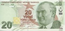Turkey 20 Yeni Turk Lirasi Turk Lirasi, Pdt Ataturk - Mimar Kemaleddin