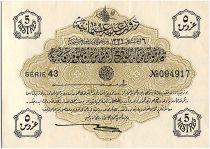 Turkey 5 Piastres, Law of 04-02-AH1332 - 1616-1917 - P.96 - AU