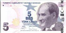 Turkey 5 Yeni Turk Lirasi - Pdt Ataturk - Aydin Sayili - 2009 (2017) - UNC