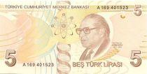 Turkey 5 Yeni Turk Lirasi Turk Lirasi, Pdt Ataturk - Aydin Sayili