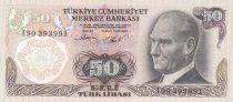 Turkey 50 Lirasi 1976 - Pdt Ataturk, fountain