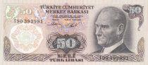 Turkey 50 Lirasi 1976 - Pdt Ataturk, fountain