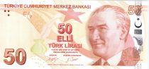 Turkey 50 Yeni Turk Lirasi - Pdt Ataturk - Fatma Aliye - 2009 (2017) - UNC - P.225c