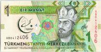 Turkménistan 1 Manat 2017 - Togrul Beg Turkmen - Stade, jeux martiaux