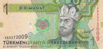 Turkménistan 1 Manat Tugrul Beg Turkmen - Palais - 2012
