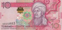 Turkménistan 10 Manat - Magtymguy Pyragy - Banque - 2012