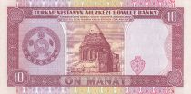 Turkmenistan 10 Manat - S. Niazov - Government building - 1993