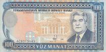 Turkménistan 100 Manat S.Niazov - Palace présidentielle - 1995