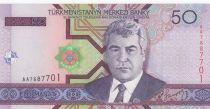 Turkménistan 50 Manat S. Niazov - cheval - 2005 - Neuf - P.17