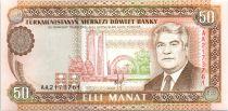 Turkménistan 50 Manat S. Niazov - Monument - 1993