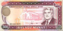 Turkménistan 500 Manat S. Niazov - Théâtre National - 1995