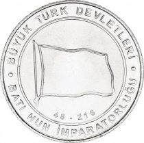 Turquie 1 Kurush Drapeau - Empire Hun Ouest 48-216 - 2015