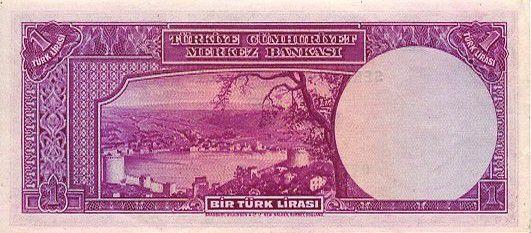 Turquie 1 Lira Pdt L. Inonu - Bosphore