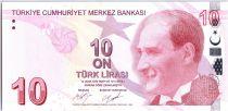 Turquie 10 Yeni Turk Lirasi - Pdt Ataturk - Cahit Arf - 2009 (2017) - Neuf