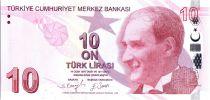 Turquie 10 Yeni Turk Lirasi - Pdt Ataturk - Cahit Arf - 2009 (2021) - Neuf - P.223