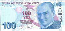 Turquie 100 Lira - Pdt Ataturk - Buhurizade Mustafa Efendi - 2009 (2017) - Neuf - P.226c