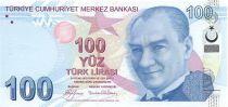 Turquie 100 Yeni Turk Lirasi Turk Lirasi, Pdt Ataturk - Buhurizade Mustafa Efendi