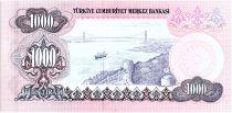 Turquie 1000 Lira, Président  Ataturk - Bosphore - ND 1970 - P. 191