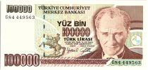 Turquie 100000 Lira, Président  Ataturk - Groupe d\'enfants - 1997 - P. 206