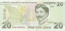 Turquie 20 Yeni Turk Lirasi Turk Lirasi, Pdt Ataturk - Mimar Kemaleddin