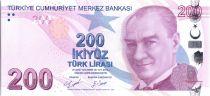 Turquie 200 Lira - Pdt Ataturk - Yunus Emre - 2009 (2020) - Préfixe D - Neuf - P.227d