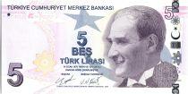 Turquie 5 Yeni Turk Lirasi - Pdt Ataturk - Aydin Sayili - 2009 (2020) - Neuf
