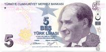 Turquie 5 Yeni Turk Lirasi Turk Lirasi, Pdt Ataturk - Aydin Sayili 2013