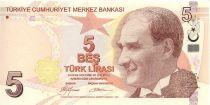 Turquie 5 Yeni Turk Lirasi Turk Lirasi, Pdt Ataturk - Aydin Sayili