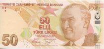 Turquie 50 Yeni Turk Lirasi Turk Lirasi, Pdt Ataturk - Fatma Aliye