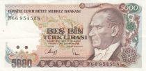 Turquie 5000 Lira L.1970 - Atatürk, Centrale