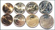 Turquie SET.3 Série 4 Pièces AtaTurk - 2014-2015