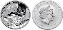 Tuvalu 1 Dollar Black Panther - Marvel Once Argent 2018