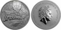 Tuvalu 1 Dollar Spiderman - Marvel Once Argent 2017