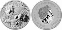 Tuvalu 1 Dollar Thor - Marvel Oz Silver 2018