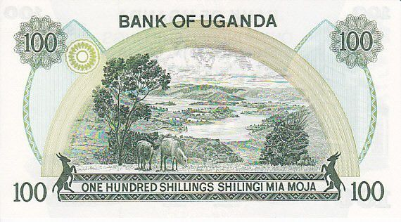 Uganda 100 Shillings Central Bank - Lake