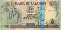 Uganda 1000 Shillings Farmer - Grain storage - 2005