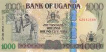 Uganda 1000 Shillings Farmer - Grain storage - 2009
