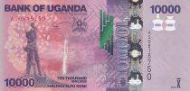 Uganda 10000 Shillings - Arms - Banana plantation - 2013