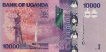 Uganda 10000 Shillings - Waterfall - Banana plantation - 2017