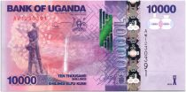 Uganda 10000 Shillings Waterfall - Bananas - 2013