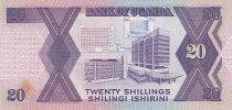 Uganda 20 Shillings - Arms - Monuments - 1987