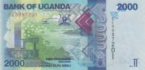 Uganda 2000 Shillings - Landscape, fishes - 2019
