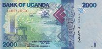 Uganda 2000 Shillings - Sea - Fish - 2010 -  Serial AA