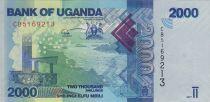 Uganda 2000 Shillings 2017 - Landscape, fishes