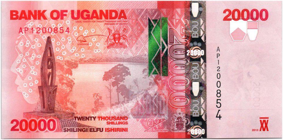 Uganda 20000 Shillings Buffalos - 2013