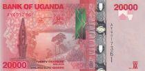 Uganda 20000 Shillings Buffalos - 2015