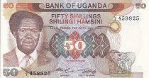Uganda 50 Shillings - President Milton Obote - Dam - 1985