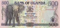 Uganda 500 Shillings - Elephant - House - 1994